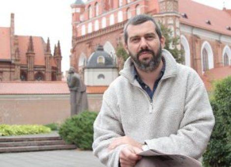 Łukasz Niesiołowski-Spanò podczas pobytu w Wilnie Fot. Marian Paluszkiewicz