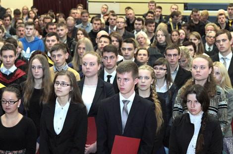 Nowy rok akademicki 2014/2015 w Filii UwB w Wilnie rozpoczęło 145 studentów pierwszego roku Fot. Marian Paluszkiewicz