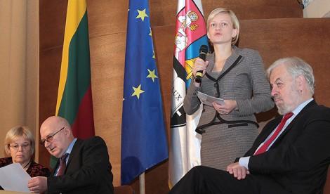 Zastępca ambasadora RP na Litwie Maria Ślebioda zaznaczyła, że temat zachowania tożsamości na Wileńszczyźnie jest niezwykle istotny  Fot. Marian Paluszkiewicz