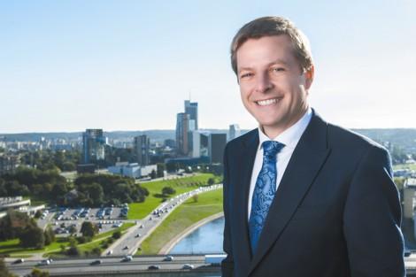 Remigijus Šimašius, kandydat na mera Wilna z ramienia Związku Liberałów (Liberalų sąjūdis)