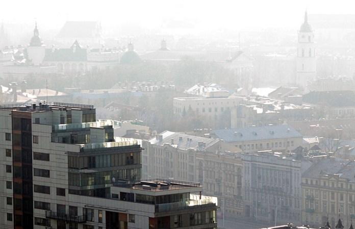 Zanieczyszczone powietrze nad Wilnem