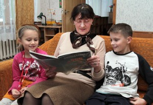 Anna Wilkin pracuje z grupą polską Fot. Marian Paluszkiewicz