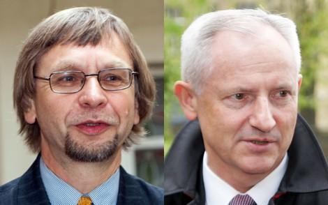 """Romuald Mieczkowski i Czesław Okińczyc — założyciele pisma """"Znad Wilii""""    Fot. Marian Paluszkiewicz"""