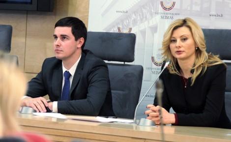 Rita Tamašunienė i Waldemar Urban mówili o problemach koalicji przed startem w zbliżających się wyborach samorządowych Fot. Marian Paluszkiewicz
