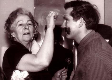 Irena Rymowicz i Jerzy Surwiło, który wystapił w roli porucznika Fot. archiwum