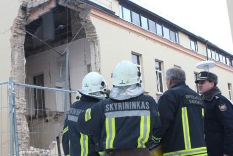 W poniedziałek, 5 stycznia, w centrum Wilna przy ul. Vilniaus 35 zawalił się dom Fot. ELTA