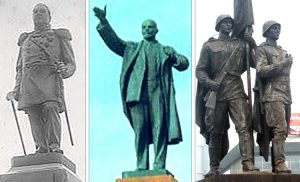 Pomniki zaborców w Wilnie zawsze były tymczasowym elementem architektury miejskiej    Fot. Marian Paluszkiewicz