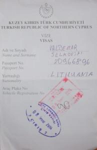Nieuznawane Republiki Naddniestrza oraz Północnego Cypru prawnie nie mogą stosować systemu wizowego, więc zastępuje je wypełniony na granicy druczek o dumnej nazwie Migration Card bądź Vize Fot. Waldemar Szełkowski