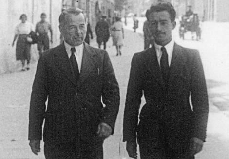 Olgierd (ojciec) i Sergiusz Kościałkowski w Wilnie (maj 1938 r.)