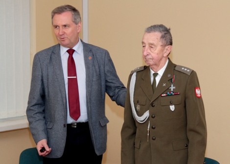 Prof. Jarosław Wołkonowski oraz nowy prezes Klubu ― Stanisław PóźniakFot. Marian Paluszkiewicz
