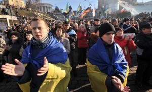 Ukraińcy z ubiegłorocznego Majdanu są coraz bardziej rozczarowani poczynaniami, a raczej ich brakiem, nowych władz        Fot. archiwum