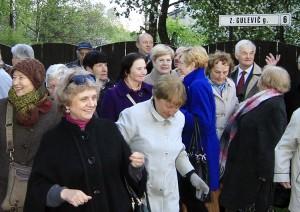 Uczestnicy Dnia Pamięci na ulicy noszącej imię Zofii Gulewicz Fot. Jerzy Karpowicz