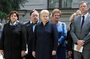W ceremonii udział wzięli przedstawiciele władz, Wojska Litewskiego oraz byli zesłańcy Fot. Marian Paluszkiewicz