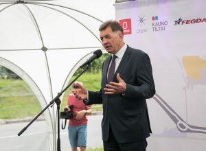 W ceremonii rozpoczęcia prac budowlanych uczestniczył premier Algirdas Butkevičius   Fot. ELTA