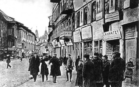 Ten sam fragment ul. Niemieckiej przed drugą wojną światową
