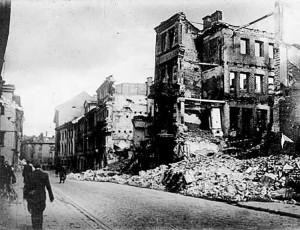 Widok ul. Niemieckiej po drugiej wojnie światowej