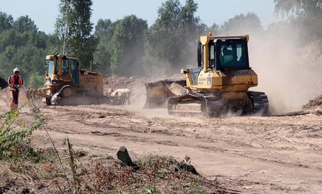 Rozpoczęta budowa trzeciego, ostatniego odcinka zachodniej obwodnicy Wilna, już sprawia kłopoty sąsiadującymi z nią mieszkańcom Fot. Marian Paluszkiewicz
