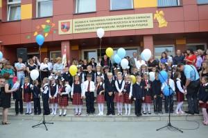 Chwila uroczystego święta w Gimnazjum im. F. Ruszczyca