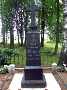Grób Emilii Plater na cmentarzyku w Kopciowie Fot. archiwum