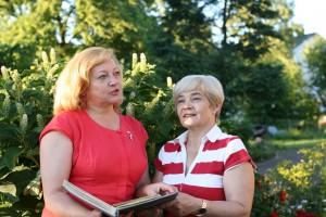 Irena Narkiewicz i Marta Kowynia ostatnio ponownie spotkały się w Trokach Fot. z albumu rodzinnego