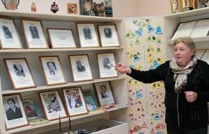Osobne miejsce w szkolnym muzeum zajmuje galeria dyrektorów szkoły i autorów podręczników Fot. Marian Paluszkiewicz