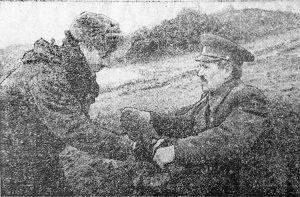 Major W. Daniłow i szeregowy W. Bykow Fot. A. Sturba