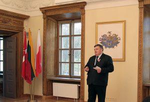 Dyrektor Pałacu Balińskich w Jaszunach Kazimierz Karpicz Fot. Marian Paluszkiewicz