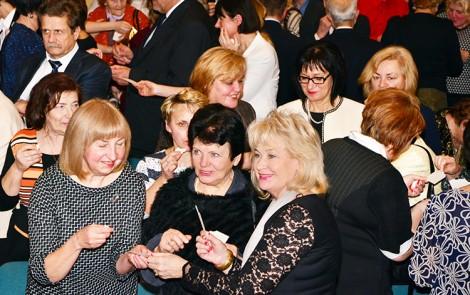 Na spotkanie przybyli przedstawiciele polskich środowisk rozproszonych po całej Litwie Fot. Jerzy Karpowicz