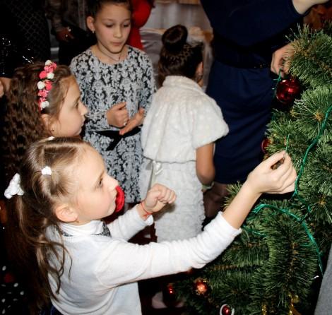 Spotkanie bożonarodzeniowe zorganizowane przez Związek Polaków Ukrainy w mieście Borodianka obwód Kijowski Fot. Andżelika Płaksina