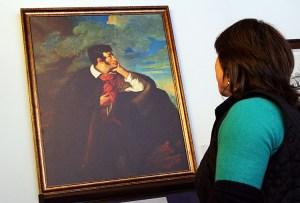 """Kopia obrazu Walentego Wańkowicza """"Portret Adama Mickiewicza na Judahu skale"""" Fot. Marian Paluszkiewicz"""