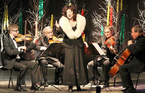 Występ Judity Leitaitė oraz Państwowego Kwartetu Wileńskiego został nagrodzony brawami publiczności Fot. Marian Paluszkiewicz