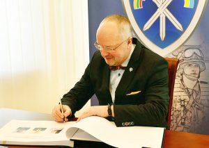 Juozas Olekas uczestniczył w ceremonii rozpoczęcia funkcjonowania wspólnej polsko-litewsko-ukraińskiej brygady w Lublinie Fot. mjr Robert Siemaszko/CO MON