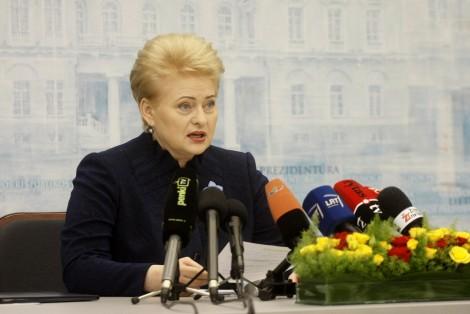 Dalia Grybauskaitė powiedziała, że Wschodnia Litwa to zaniedbany region     Fot. ELTA