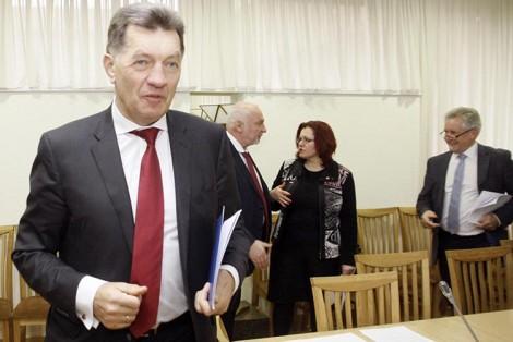 """Premier Butkevičius w działaniach oświatowych związków zawodowych Litwy widzi """"rękę Rosji"""" Fot. ELTA"""