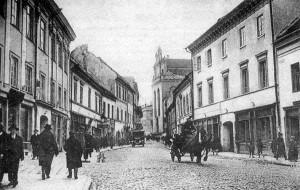 Ulica Zamkowa w Wilnie, ok. 1930 rok Fot. archiwum