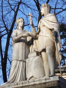 g Pomnik królowej Jadwigi i Władysława Jagiełły w Krakowie stanął na pamiątkę 500. rocznicy unii Polski z Litwą