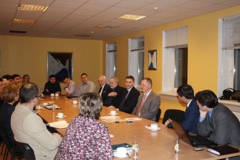 przedsiębiorcy mieli okazję zadawać interesujące ich pytania, dyskutowano o możliwościach i warunkach dla rozwoju biznesu, uczestniczenia w projektach inwestycyjnych samorządu Fot. archiwum