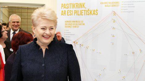Prezydent Grybauskaitė popiera przejrzystość oraz nagłaśnianie działalności niezgodnej z prawem osób publicznych  Fot. Marian Paluszkiewicz