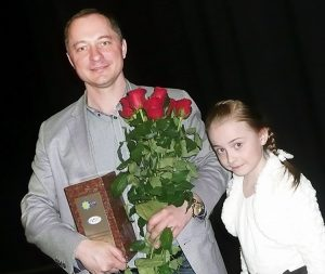 Bernard Niewiadomski z córką Magdą Fot. Justyna Giedrojć
