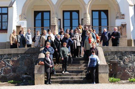 Zwiedziliśmy Pałac w Rakiszkach, który w XIX wieku należał do pokoleń rodu szlacheckiego rodzin Tyzenchauzów i Przezdzieckich