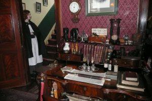 Biurko, przy którym Conan Doyle pisał swe powieści Fot. Justyna Giedrojć