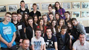 Część młodzieży z Dobrego Miasta była z wycieczką w Wilnie po raz pierwszy. Fot. Marian Paluszkiewicz