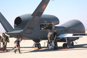 Samolot rozpoznawczy Global Hawk może latać na wysokościach do 20 kilometrów    Fot. archiwum