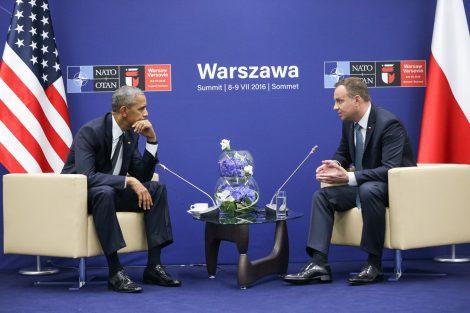 We wczesnych godzinach przedpołudniowych, jeszcze przed rozpoczęciem szczytu NATO, odbyło się spotkanie prezydentów Polski i Stanów Zjednoczonych Fot. prezydent.pl