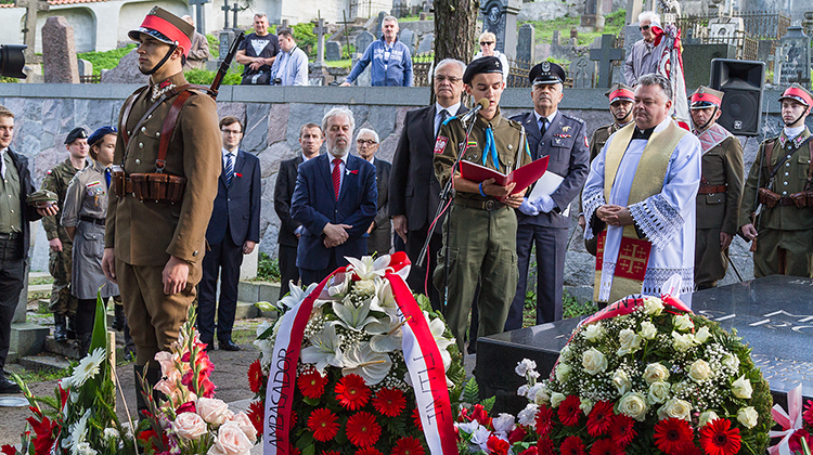 Rocznicowe obchody Święta Wojska Polskiego odbyły się również na wileńskiej Rossie Fot. Marian Paluszkiewicz