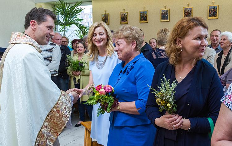 Mszę św. w intencji żołnierzy poległych w Bitwie Warszawskiej odprawił ks. Ričardas Doveika    Fot. Marian Paluszkiewicz