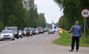Na Litwie uczestnicy, jako cele swego wyjazdu, wybrali Szawle i lotnisko wojskowe Zokniai pod Szawlami Fot. siauliu.policija.lt