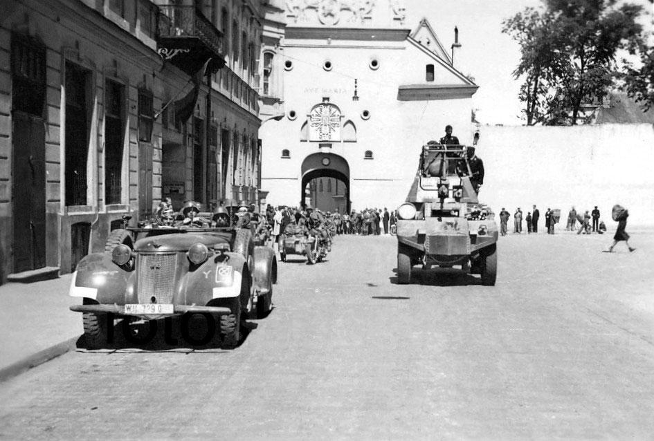 Widok na Ostrą Bramę — rok 1942 Fot. archiwum