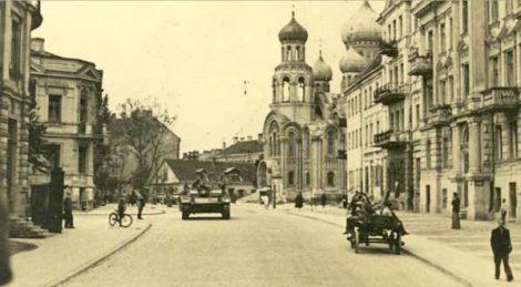 Ulica Pohulanka (obecnie Basanavičiaus) w czasie okupacji niemieckiej Fot. archiwum