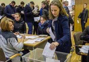 Wybory cieszyły się sporym zainteresowaniem w samorządzie wileńskim Fot. Marian Paluszkiewicz